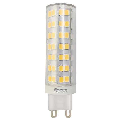 6.5W T6 120v 2-pin G9 Base Clear Finish 3000k Specialty LED Miniature Light Bulb