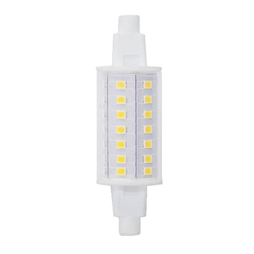 6W J-Type Short 120V Double-End R7s Recessed Single Contact Clear Finish 3000K Miniature Light Bulb