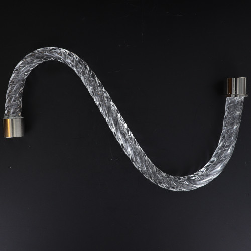 14in. Roped Crystal S-Arm with Chrome Ferrules
