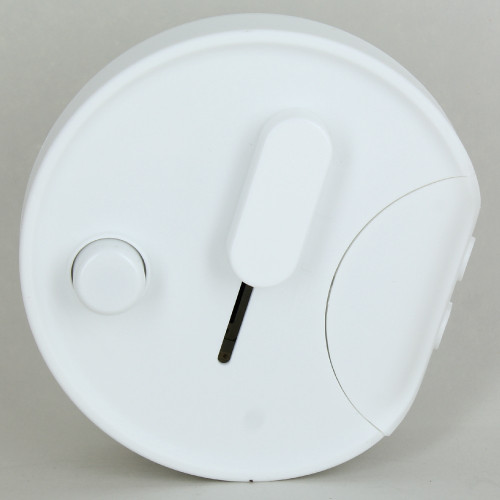 In-Line Universal Push Button Table/Floor Dimmer - White