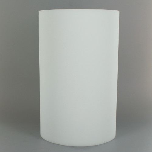 8in Tall X 5in Diameter White Acid Frosted Glass Cylinder