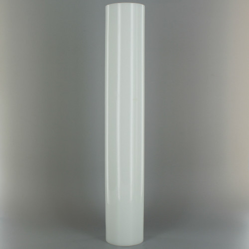 12in Tall X 2in Diameter. White Glass Cylinder