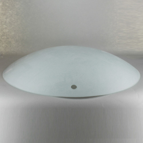 16in Diameter Sandblasted/White Painted Dish with (3) 1/2in. Holes