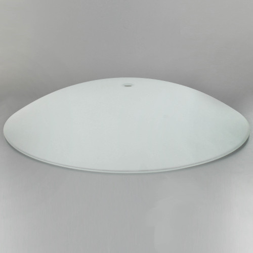 16in Diameter Sandblasted/White Painted Dish with 1/2in. Hole