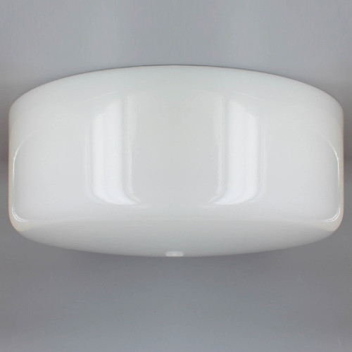 16in. White Glass Empire Shade with 7/16in. Center Hole