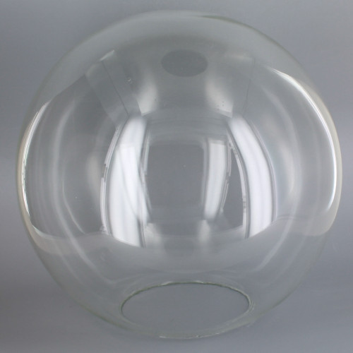 12in Hand Blown Neckless Glass Ball with 5-1/4in. Neckless Opening - Clear - Made In USA