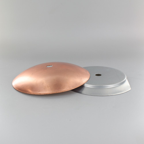 4in Steel Neckless Ball Holder Set with Cover and Insert - Unfinished Copper