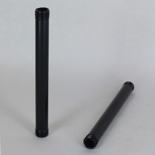 4in. Long 1/4ips (1/2in O.D) Black Powder Coated Finish Round Hollow Pipe