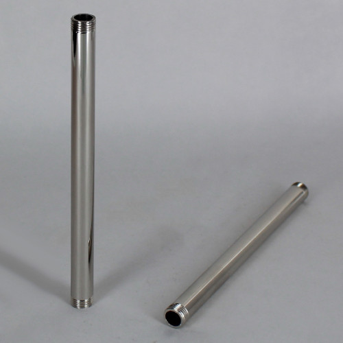 1in. Nickel Plated Finish Pipe with 1/8ips. Thread