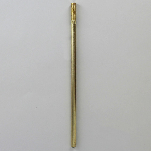 1/4-27 x 6in. Long Unfinished Brass Shade Rod for Cluster