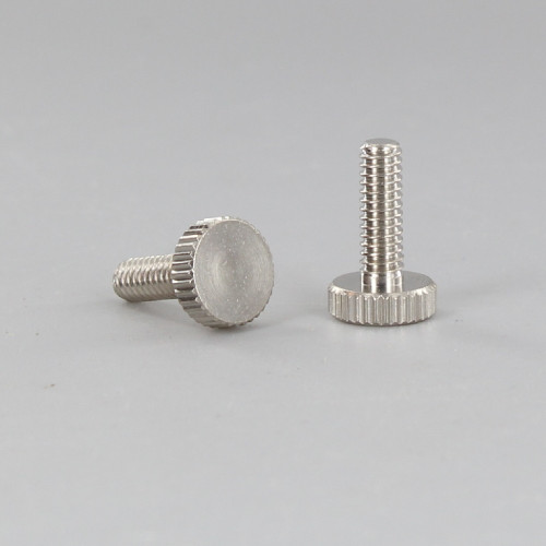 8/32 Thread Nickel Plated Finish 1/2in. Long  Knurled Thumb Screw
