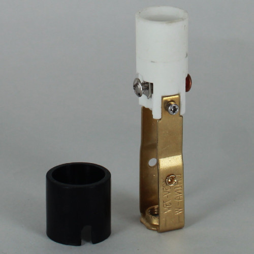 3in Tall E-12 Base Damp Rated Candelabra Lamp Socket