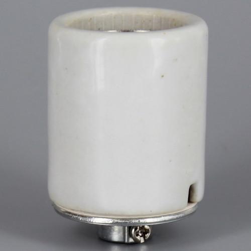 3-Terminal 3-Way Keyless Porcelain E-26 Base Lamp Socket with 1/8ips Threaded Cap