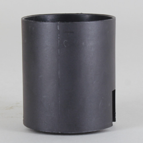 E-27 Black Smooth Skirt Thermoplastic Lamp Socket with. Push Terminal Wire Connections.