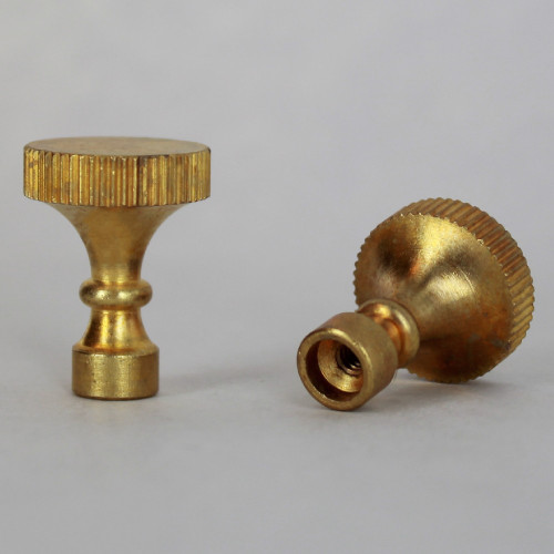Unfinished Brass Turned Knurled Socket Knob with 4/36 Thread
