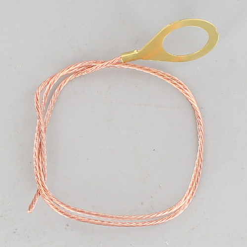 1/8ips. Lug with 12in. Long 18/1 Bare Copper Ground Wire Strap