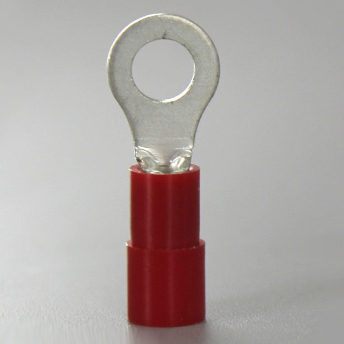 #8 Crimp-On Ring Terminal for use with 22-16 Gauge Wire Sizes.