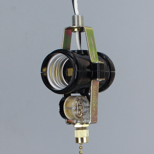 2 Light Phenolic Socket Cluster with Pull Chain Switch