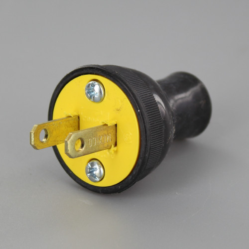 Black - Round Thermoplastic Plug