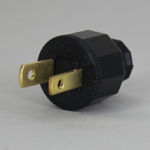Black - Polarized, Non-Grounding, SPT-1 EZ Wire Snap On Decorative Attachment Plug