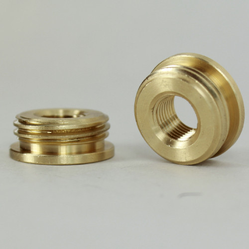 1/8ips. Female X 1/2ips. Male Thread Unfinished Brass Reducer with Shoulder