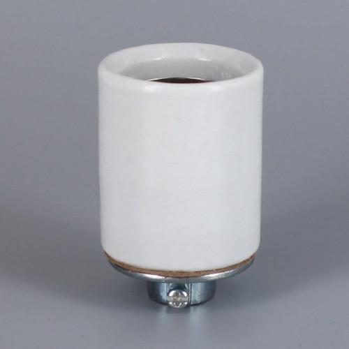 1/4ips - E-26 Porcelain Keyless Socket with Ground Screw Terminal and 1/4ips. Heavy Duty Cap