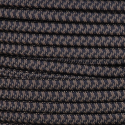 16/2 Black/Brown Hounds Tooth SPT-2 Cloth Corvered Overbraid Wire