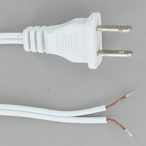 10ft. White 18/2 SPT-1 Cordset with Molded Polarized Plug