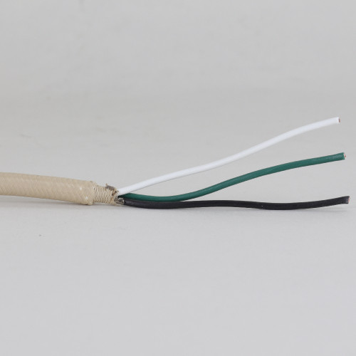 10ft Long - 18/3 SVT-B Beige Cloth Covered Pre-Processed Wire Harness