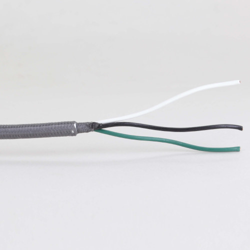 11ft Long - 18/3 SVT-B Grey Cloth Covered Pre-Processed Wire Harness