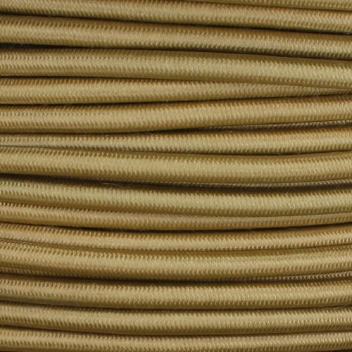 250ft Spool Gold Nylon Covered Oval 2 X 0.75mm HO3VVH2-F Harmonized PVC Jacketed Light Duty Flexible Cord