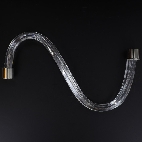 10in. Fluted Crystal S-Arm with Chrome Ferrules