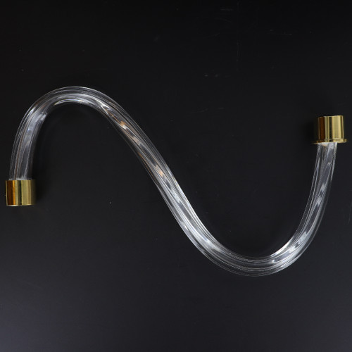 10in. Fluted Crystal S-Arm with Gold Ferrules.