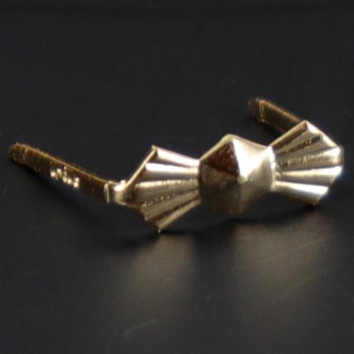 10.5mm. Gold Bowtie Clip