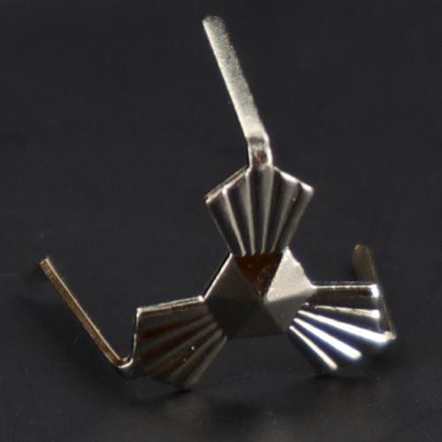 12mm Chrome Plated Three-Legged Bowtie Clip