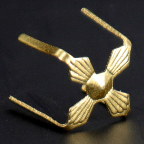 12mm Gold Plated Four-Legged Bowtie Clip