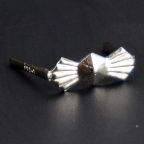 8mm. Chrome Bowtie Clip