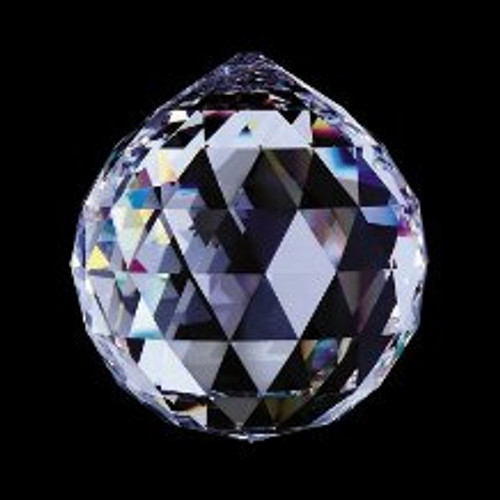 50mm. Strass Cut Crystal Ball with Pin Hole