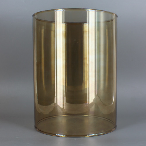 6in Diameter X 10in Height Smoked Finish Clear Glass Cylinder