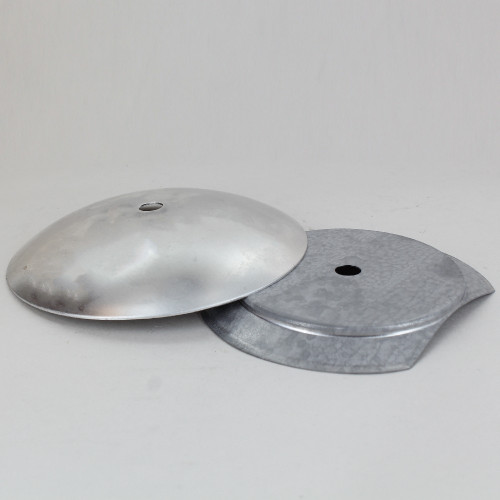 4in Steel Neckless Ball Holder Set with Cover and Insert - Unfinished Aluminum