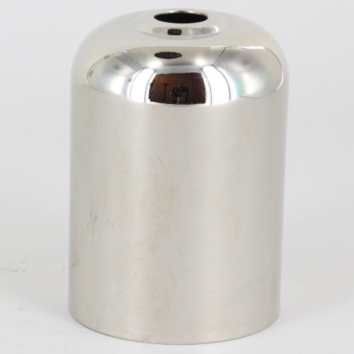 2-5/16in Tall Wide Round Bottom Edison Socket Cup - Polished Nickel Finish