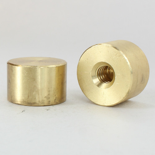 1/4-20 UNC - 3/4in x 1/2in Cylinder Finial - Unfinished Brass