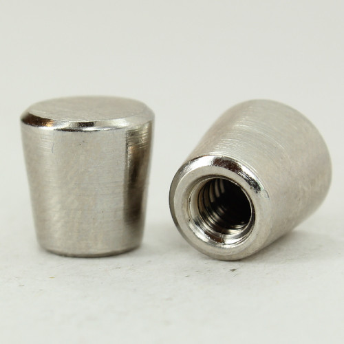 8/32 UNC - 1/4in x 3/8in Tapered Finial - Polished Nickel