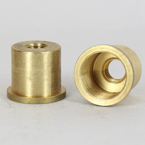 1/2ips.(NPS) X 1/8ips. Female Threaded Unfinished Brass Coupling with Shoulder