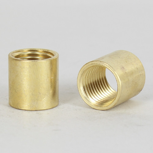 1/4ips - 5/8in X 5/8in Cylinder Coupling - Unfinished Brass