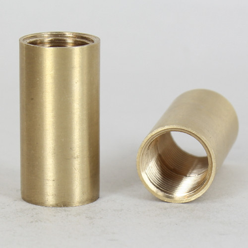 3/8ips - 3/4in W X 1-1/2in H - Straight Coupling - Unfinished Brass