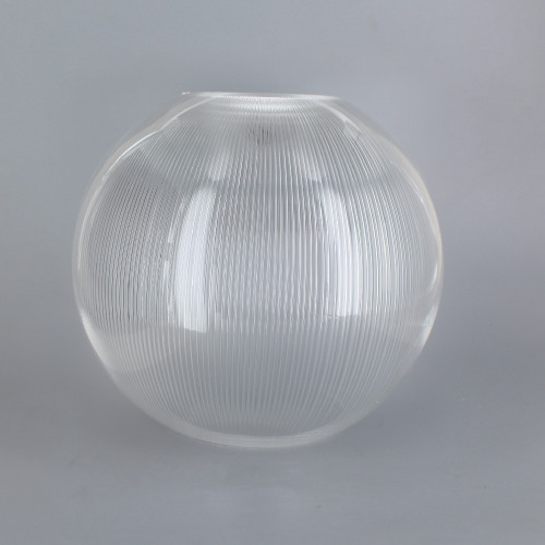 6in Diameter X 3in Diameter Hole Acrylic Neckless Ball - Clear Prismatic