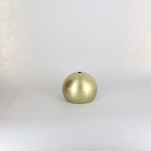 100MM. UNFINISHED BRASS OPEN BALL SHADE WITH 1/8IPS HOLE AND 2-7/8IN. OPENING