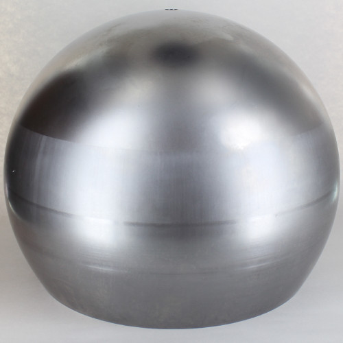 400mm. Unfinished Steel Open Ball Shade with 1/8ips Hole and 2-1/2in. Opening