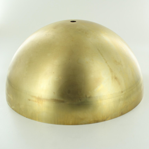 250mm. Unfinished Brass Dome Shade with 1/8ips. Slip Through Hole